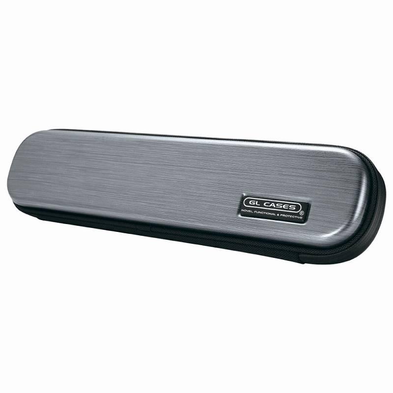【送料無料!】【GL CASES】フルート用ABS樹脂製ハードケース GLE-FL(L18)HARD GREY/メタリックシルバー