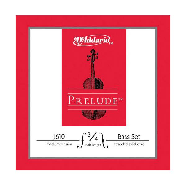 【D'Addario (ダダリオ)】ウッドベース(コントラバス)弦 J610 3/4M Prelude Bass Strings / SET