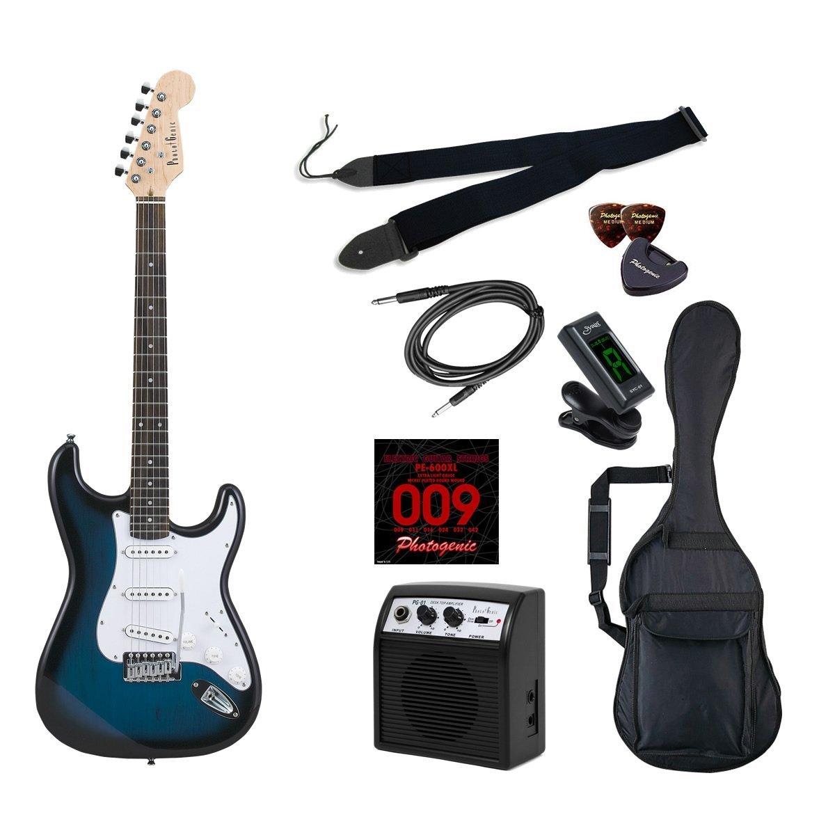 *【代引不可】【送料無料!】【Photogenic(フォトジェニック)】初心者入門ライトセット エレキギターST-180 (ST180)