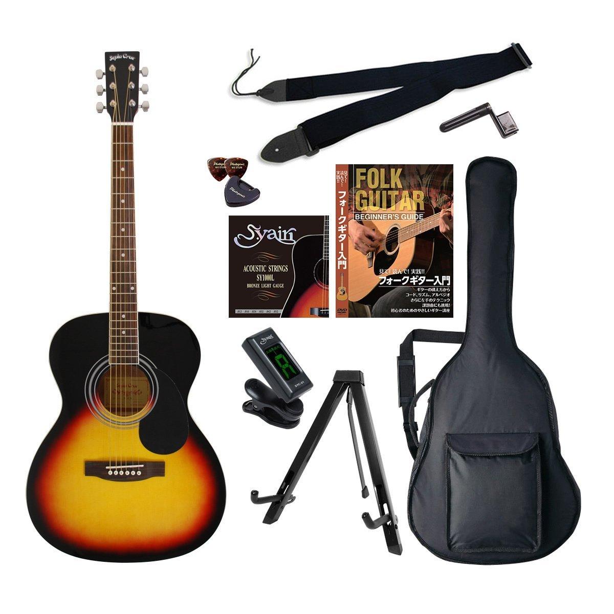 *【代引不可】【SepiaCrue(セピアクルー)アコースティックギター】FG10 初心者入門エントリーセット