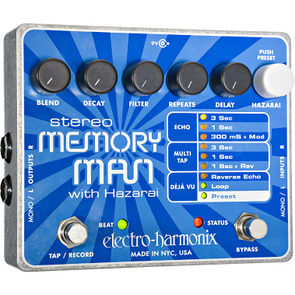 【electro-harmonix】Stereo Memory Man with Hazarai(ステレオメモリーマン・ハザライ) デジタル・ディレイ/ルーパー