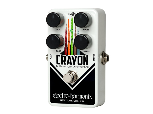 【electro-harmonix】【エフェクター】オーバードライブ Crayon 01 シャーシ黒