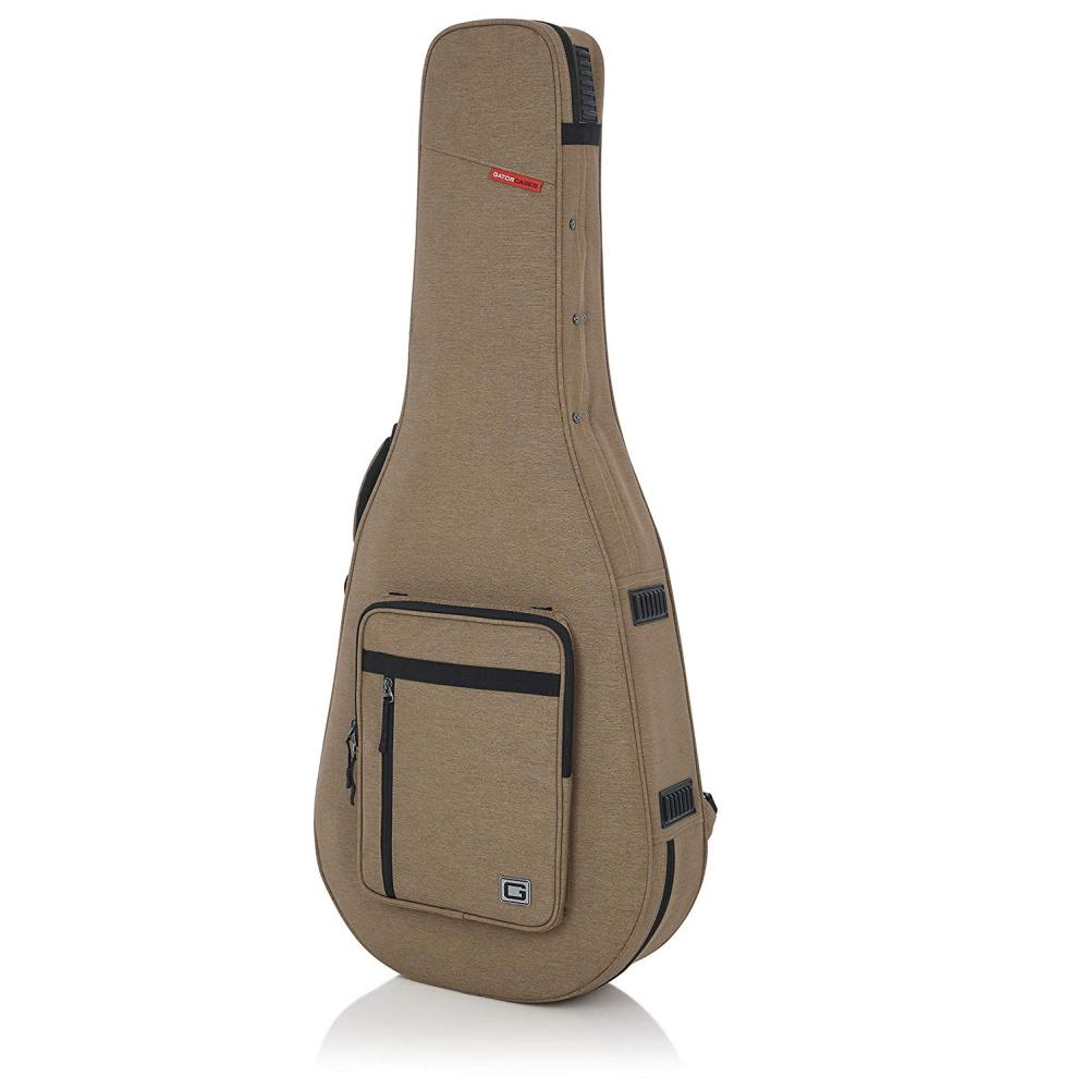 【代引不可】GATOR アコースティックギター用 セミハードケース Transit Lightweight Series GTR-DREAD12-TAN (ドレッドノート/12弦対応)
