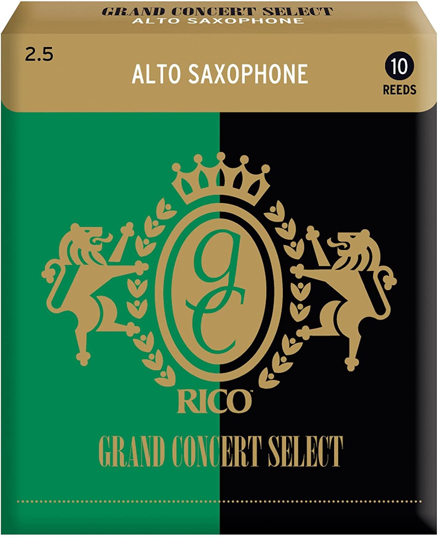 ゆうパケット RICO リコ D'Addario WoodWinds ダダリオ リード 豊富な品 CONCERT アルトサックス用 硬さ:2.5 日本限定 GRAND 10枚入り SELECT RGC10ASX250