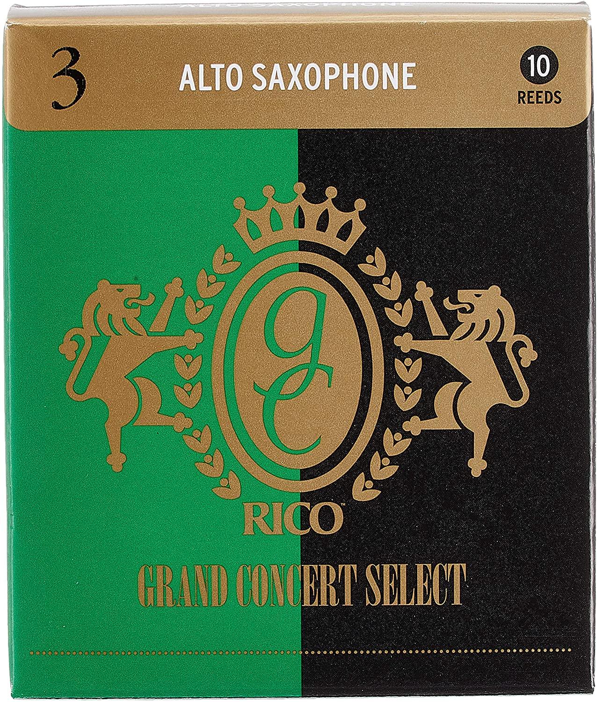 ゆうパケット RICO リコ 安売り D'Addario WoodWinds ダダリオ リード 10枚入り SELECT CONCERT アルトサックス用 硬さ:3.0 新作続 RGC10ASX300 GRAND