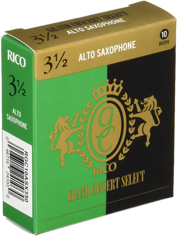 ゆうパケット RICO リコ 70%OFFアウトレット D'Addario WoodWinds ダダリオ リード GRAND RGC10ASX350 硬さ:3.5 10枚入り 店 アルトサックス用 SELECT CONCERT