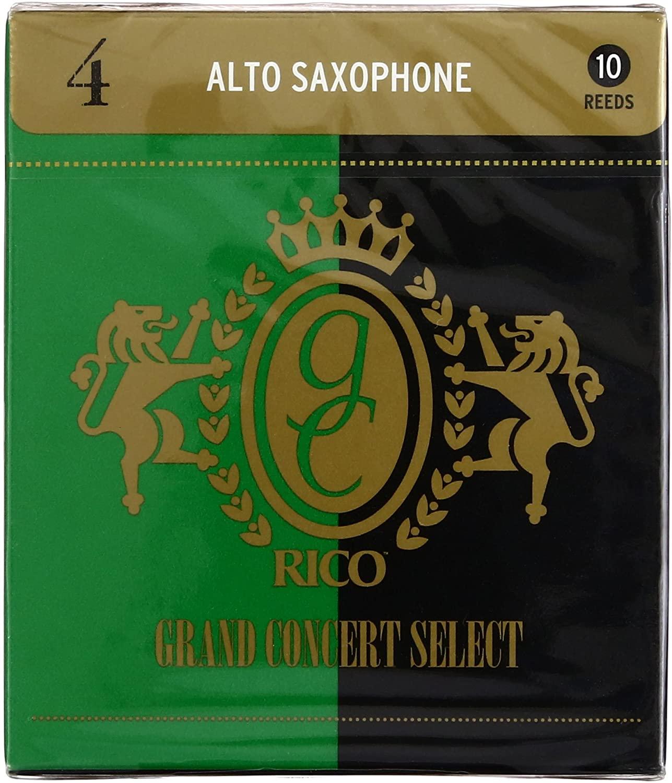 ゆうパケット RICO リコ D'Addario WoodWinds ダダリオ リード お得 RGC10ASX400 CONCERT 人気上昇中 GRAND 10枚入り アルトサックス用 硬さ:4.0 SELECT