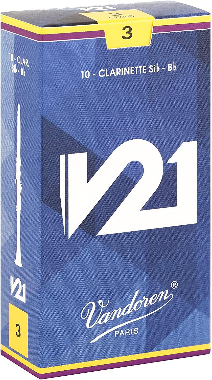 定形外郵便発送 Vandoren バンドレン リード B♭クラリネット V21 CR803 倉 10枚入り 期間限定送料無料 : 硬さ 3