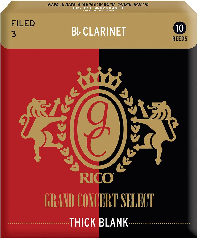 RICO リコ リード B♭クラリネットグランドコンサートセレクト シックブランクファイルドカット ゆうパケット RICO D'Addario WoodWinds Bbクラリネット用 CONCERT BLANK FILED THICK GRAND 10枚入り メイルオーダー SELECT 至上 RGT10BCL300 硬さ:3.0