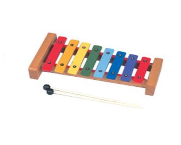 *【幼児教育用】卓上鉄琴 レインボーカラー CG-8C