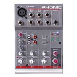*【PHONIC】【ミキサー】アナログミキサー AM55