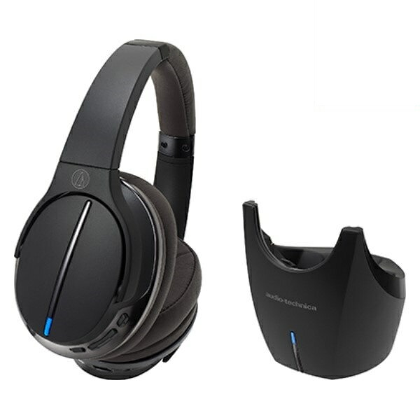 ポイント5倍!【送料無料】オーディオテクニカ Bluetooth デジタルワイヤレスヘッドホンシステム ハイレゾ対応 ブラック ATH-DWL770