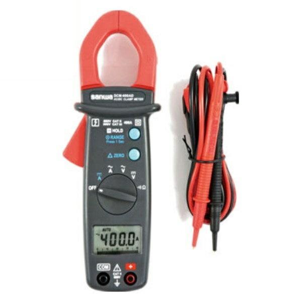 ポイント5倍!【送料無料】三和電気計器/SANWA DC/AC両用クランプメータ DMM機能付 DCM-400AD