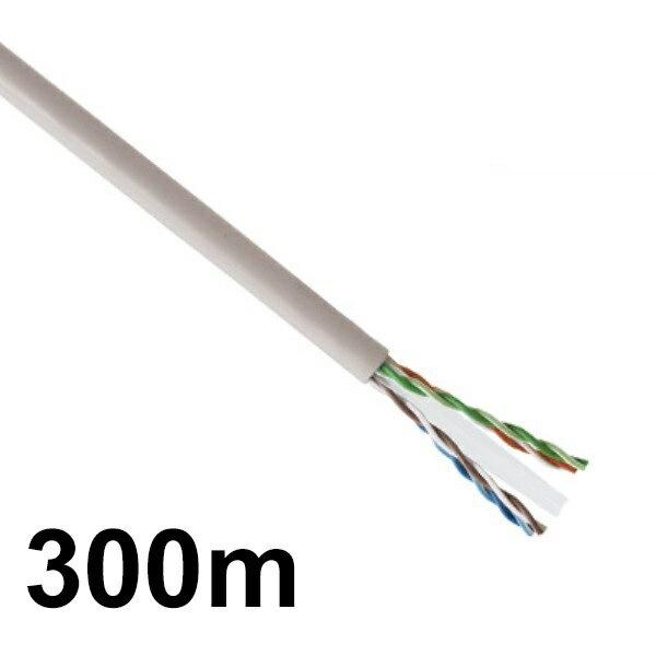 【送料無料】LANケーブル 300m巻き 未加工 CAT6/ストレート/単線 スカイブルー CML-C6300MSB