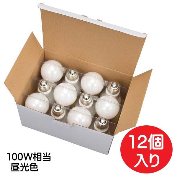 ポイント5倍!【送料無料】OHM LED電球 100形相当 1650lm 昼光色 E26 全方向配光240° 密閉形器具対応 12個入リ LDA12D-GAG2212P