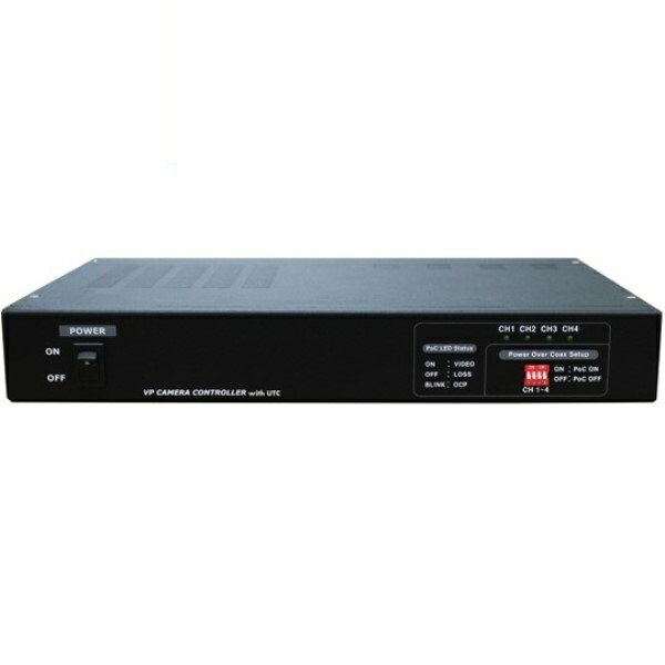 ポイント5倍!【送料無料】マザーツール UTC対応ワンケーブルAHDカメラ用電源ユニット 4チャンネル 電源重畳式 18-0082 MT-POC4RX
