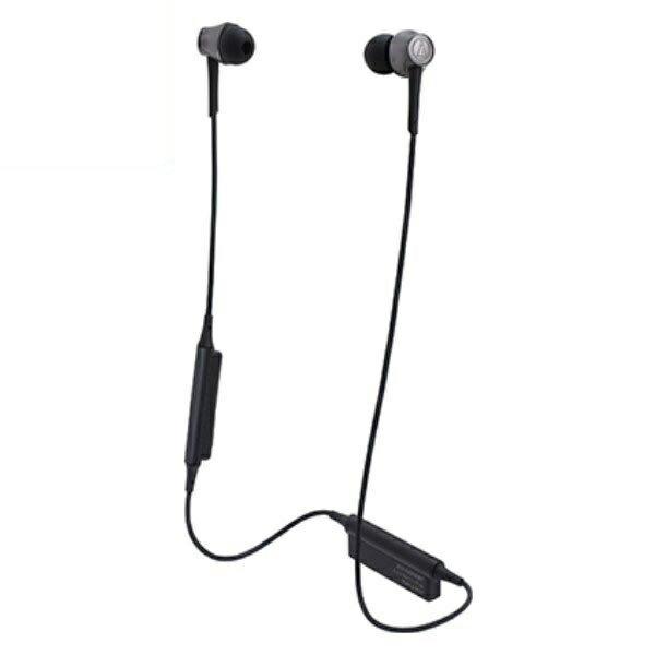 ポイント5倍!【送料無料】オーディオテクニカ Bluetooth ワイヤレスヘッドホン aptx/AAC対応 スティールブラック ATH-CKR55BTBK