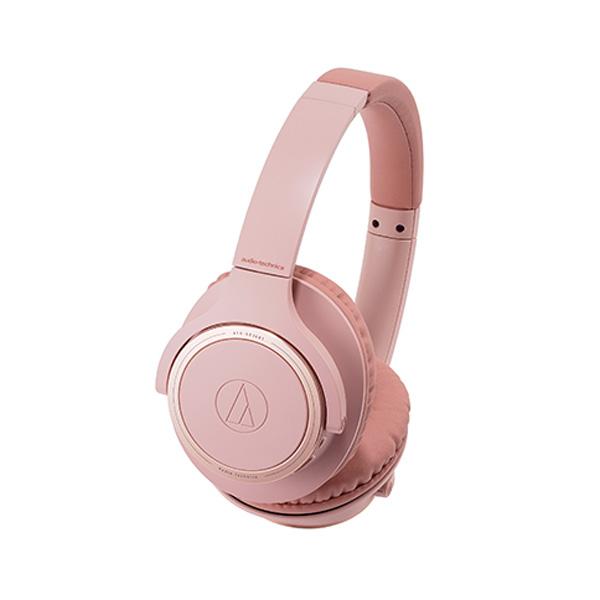エントリー最大ポイント4倍!【送料無料】オーディオテクニカ Bluetooth ワイヤレスヘッドホン ピンク SoundReality ATH-SR30BTPK