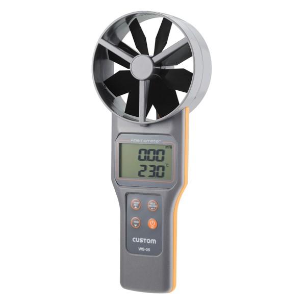 ポイント5倍!【送料無料】カスタム デジタル風速・風量計 大型ベーン式 WS-05
