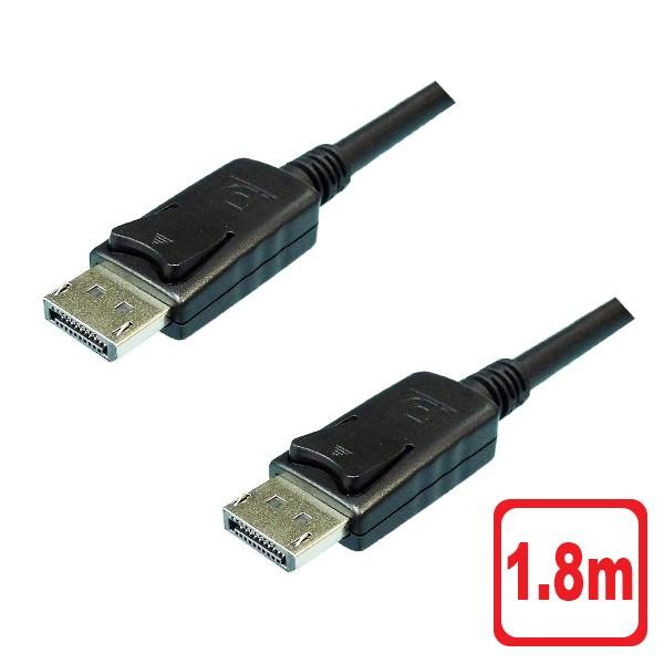 30日間返品保証 年中無休 あす楽対応 メール便送料無料 4K対応 DisplayPortケーブル 1.8m 4K DPケーブル 商い 60Hz φ6.8mm 3AカンパニーCO 注目ブランド ディスプレイポート Ver.1.2 返品保証 PCC-DPC18