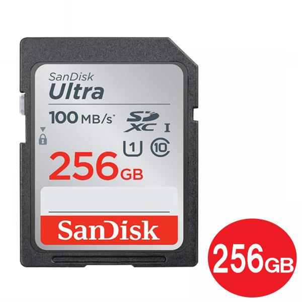 年中無休 贈答品 あす楽対応 メール便送料無料 与え サンディスク SDXCカード 256GB ULTRA Class10 海外リテール 100MB 在庫限り UHS-1 SDカード s SanDisk SDSDUNR-256G-GN6IN