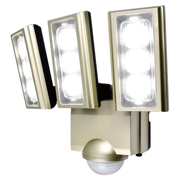 【送料無料】ELPA 屋外用LEDセンサーライト AC電源 ESL-ST1203AC 防水 防犯 人感センサー セキュリティ エルパ