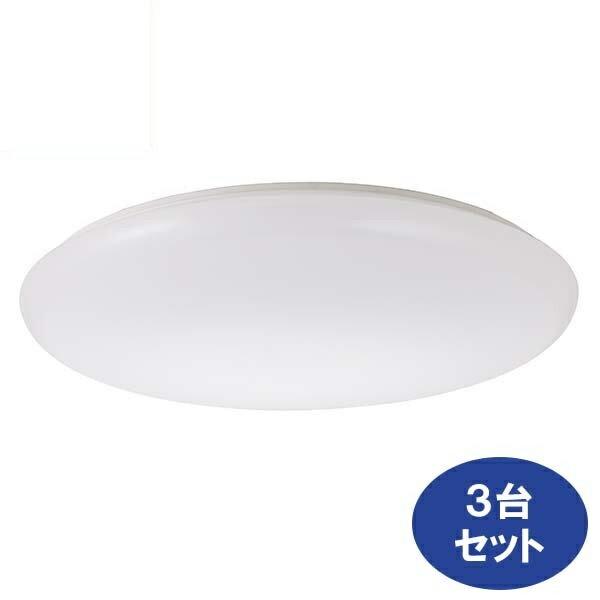 【送料無料】OHM 薄型LEDシーリングライト 昼白色 リモコン付 6畳 3台セット LE-Y40D6G-W2-B2B