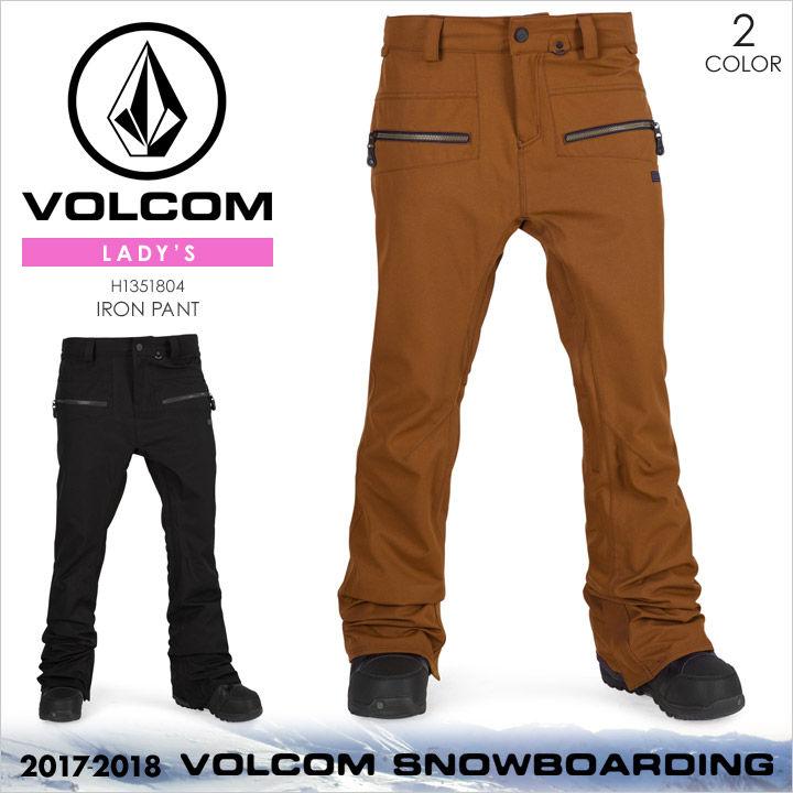 VOLCOM スノーウェア レディース IRON PANT 2017-2018 秋冬 H1351804 ブラック/ブラウン XS/S/M/L/XL
