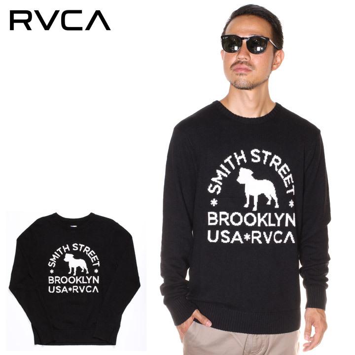 \P10倍 お買い物マラソン限定/ RVCA ルーカ セーター メンズ SMITH STREET SWEATER 2019秋冬 ブラック S/M/L/XL 【evi】