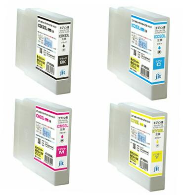 【全色顔料/送料無料】ジットIC4CL93L/IC*93Lシリーズリサイクルインクカートリッジ 4色セット【ICBK93L/ICC93L/ICM93L/ICY93L】