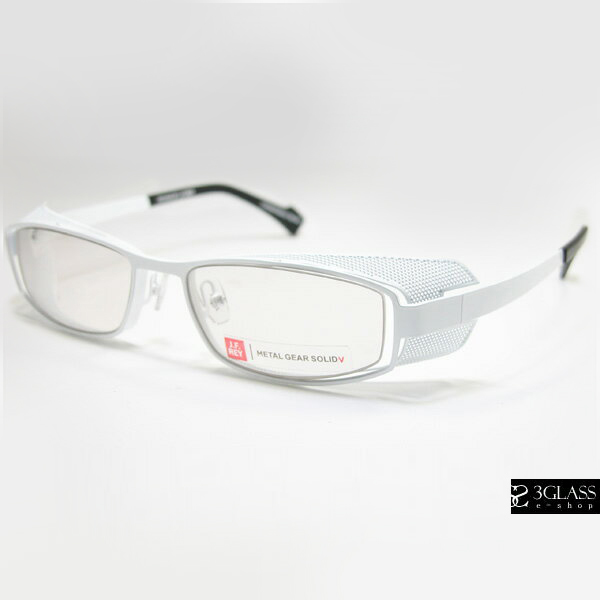 J.F.RAY×METAL GEAR SOLIDコラボHIDEO GEARSL FRAMES1010 White metal / Blue light-proof lenses メタルギアソリッド【店頭受取対応商品】