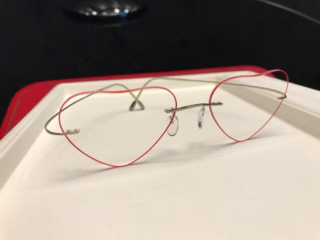 ハート型オリジナルメガネ