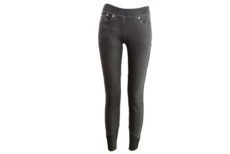 Tuff Rider/タフライダーNewbury Pull On Jeans/レディース キュロット膝革 カジュアルキュロット 乗馬用 キュロット/BLEACHS