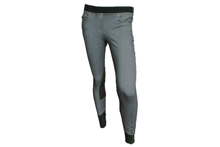 【11/13 新入荷】【Tuff Rider/タフライダー】Newbury Pull On Jeans/レディースデニム調キュロット【膝革】カジュアルゴムウエストキュロット 乗馬用 キュロット/BLEACHS