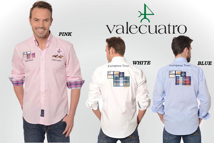 人気商品!Valecuatro/ヴァレクアトロ 乗馬用/長袖シャツ/テニス/ゴルフ/アウトドアメンズ/MEN'S