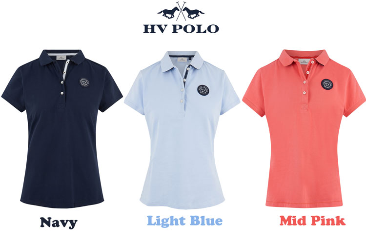 HV POLO(エイチブイ ポロ) ストレッチ素材!Lisa Polo Shirt/乗馬用/半袖ポロシャツ/テニス/ゴルフ/アウトドアレディース/LADIES