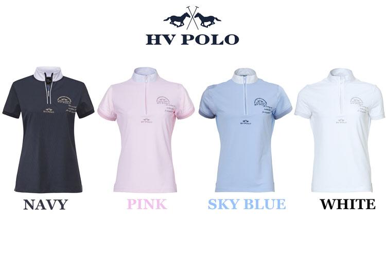 乗馬用 半袖ポロシャツ HV POLO(エイチブイ ポロ) 速乾素材!競技会/Polo Shirt/テニス/ゴルフ/アウトドア レディース/LADIES