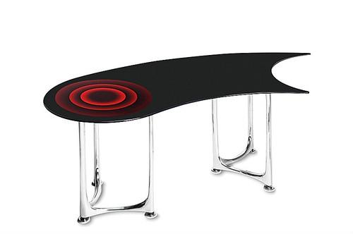 MID ノフュレシリーズハイテーブル Ku-Urushi-Side※代引き不可商品です運搬設置費用が別途かかります