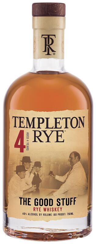 誕生日プレゼント 父の日 お酒 洋酒 アメリカ産 宅飲み お祝い ライウイスキー モルトグレーン ウイスキー ライ ギフト U 4年 40度 750ml 正規品 テンプルトン 安い 人気商品