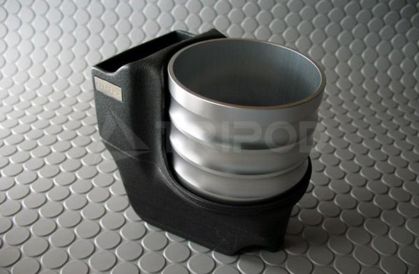 ALCABOドリンクホルダーfor PORSCHE 911(997)/Boxster(987)/Cayman(987)シルバーカップ