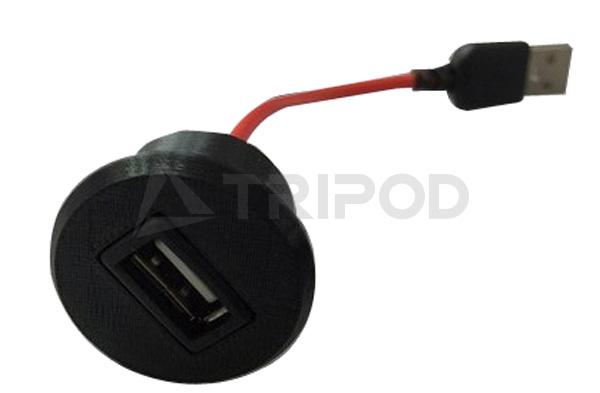 OP-USBSプジョー 208・2008用 USBポート(埋込タイプ)