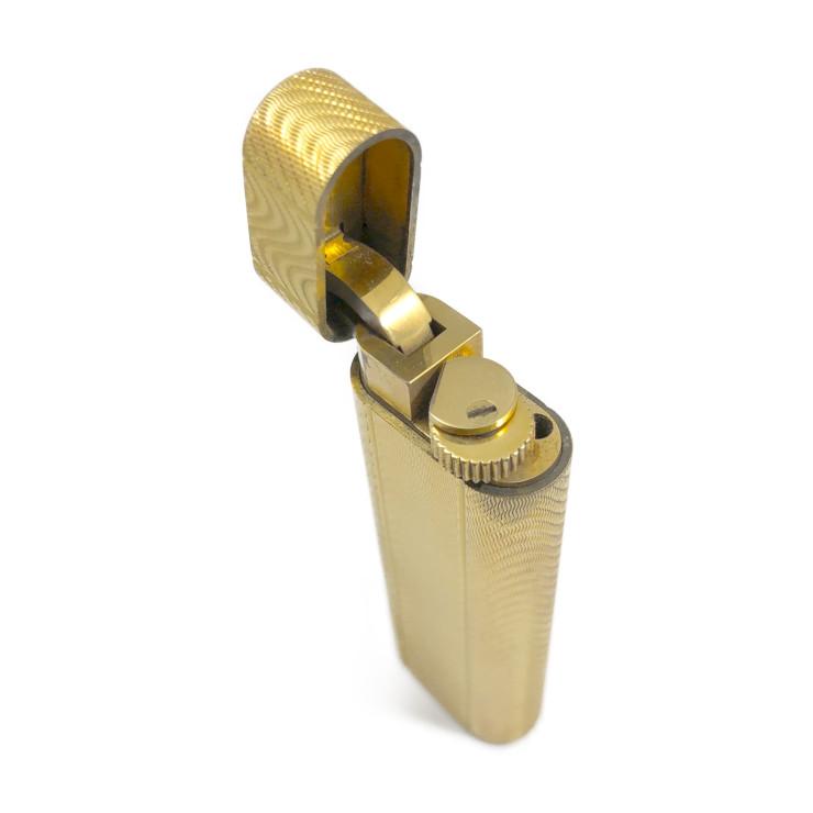 美品 CARTIER カルティエ ガスライター オーバル メタル ゴールド 喫煙具【本物保証】【中古】
