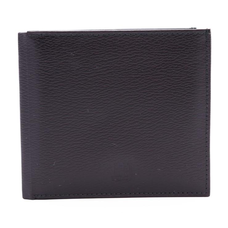 新品未使用展示品 dunhill ダンヒル 二つ折り 財布 黒 ブラック メンズ レザー【本物保証】【中古】