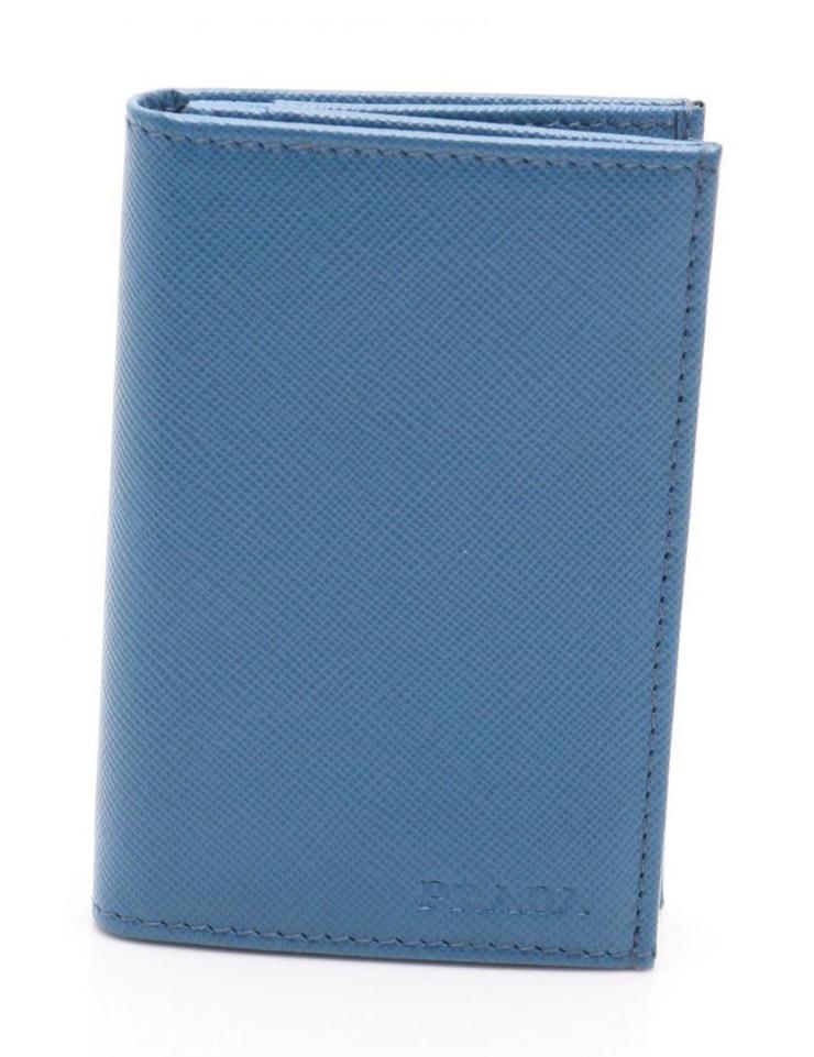 新品未使用展示品 PRADA プラダ SAFFIANO1 カードケース 2M0945 サフィアーノレザー 青【本物保証】【中古】