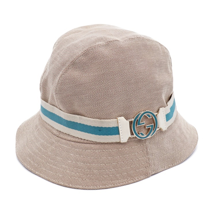 e489f7f68 Description of super beautiful article GUCCI Gucci hat hat pail hat canvas  beige light blue white list size M apparel accessory [genuine guarantee]