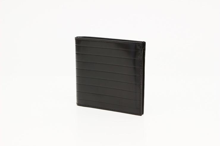 超美品 Dior ディオール メンズ 二つ折り財布 札入れ 小銭入れ無 レザー ブラック 【本物保証】【中古】