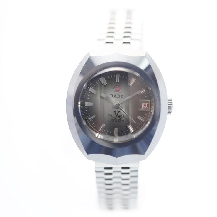 RADO ラドー BALBOA バルボア 超硬ケース 自動巻 5面カットガラス レディース腕時計【本物保証】【中古】
