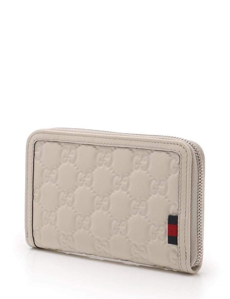 超美品 GUCCI グッチ グッチシマ GG ラウンドファスナー iPhone ケース カードケース 269884 ホワイト 【本物保証】【中古】