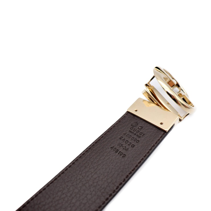 ee69cd93b Beautiful article GUCCI Gucci reversible belt 450000 480199 leather gold  metal fittings reference size 85cm [genuine guarantee]