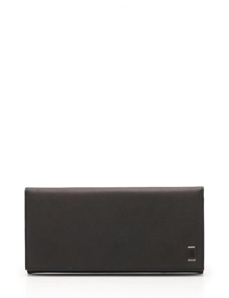 新品未使用展示品 dunhill ダンヒル サイドカーライン COAT WALLET 10CC WITH ZIP 二つ折り長財布 レザー 黒【本物保証】【中古】